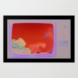 'Great grandfathers television & the fish I never had' Art Print