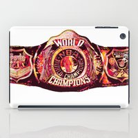 nba iPad Cases featuring NBA CHAMPIONSHIP BELT by mergedvisible