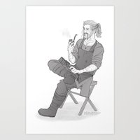 fili Art Prints featuring forge fili by Ronnie