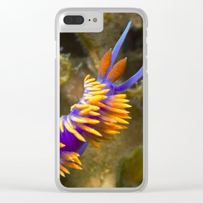 Spanish Shawl Nudibranch Clear iPhone Case