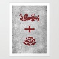 Minimalist England Art Print