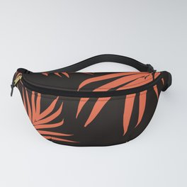 Palm Leaves Pattern Orange Vibes #1 #tropical #decor #art #society6 Fanny Pack