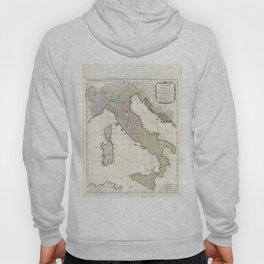 Vintage Map of Italy (1794) Hoody