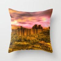 korea Throw Pillows featuring Sunrise in Korea by Anthony M. Davis
