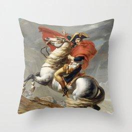 Bonaparte - The Emperor Napoleon - Jacques Louis David Throw Pillow