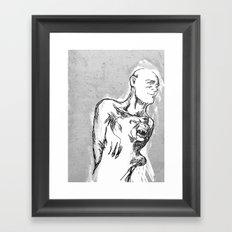 Hand of Dog Framed Art Print
