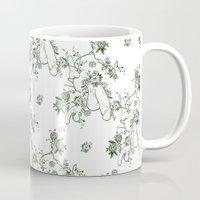 penis Mugs featuring Penis Pattern GREEN by Daniel McLaren