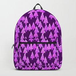 Modern Flower Christmas Trees, Amethyst Purple Backpack