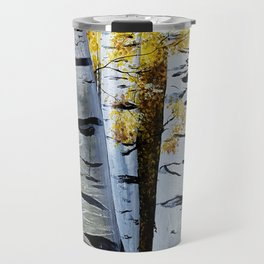 Birch Grove, acrylic painting, inspired by Belarus Travel Mug