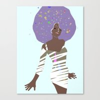 afro Canvas Prints featuring AFRO by Elmonica