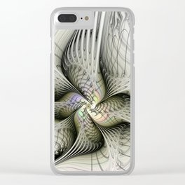 Flying, Abstract Fractal Art Fantasy Clear iPhone Case