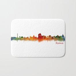 Rome city skyline HQ v02 Bath Mat