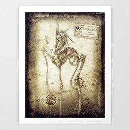 Bestiary 02 Art Print