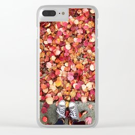 Christmas Leaves in Sonoma County Clear iPhone Case
