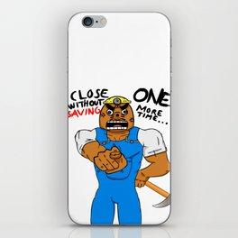 Angry Resetti iPhone Skin