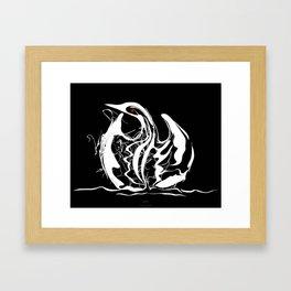 Swan 1. White on Black background-(Red eyes series) Framed Art Print