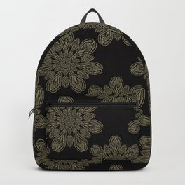 Boho Arabesque Ornamental Mandala Backpack