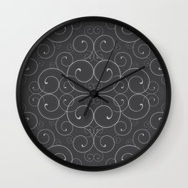 Fancy Halloween Black Wall Clock