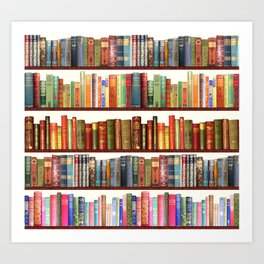 Jane Austen Vintage Book collection Art Print