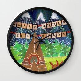 Sleep Under the Stars Camping Teepee Wall Clock