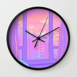 Shinjuku Summer View Wall Clock