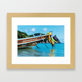 Long-Tail Koh Tao, Thailand Framed Art Print