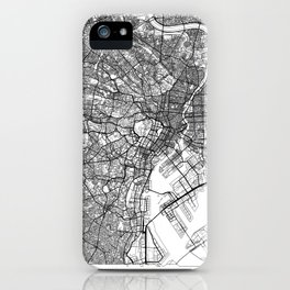 Tokyo Map White iPhone Case