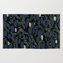 night waterlily Rug