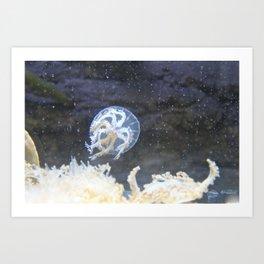Bubbly JellyFish  Art Print