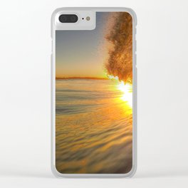 Chris Harsh Photos * Golden Wave At Dawn Clear iPhone Case