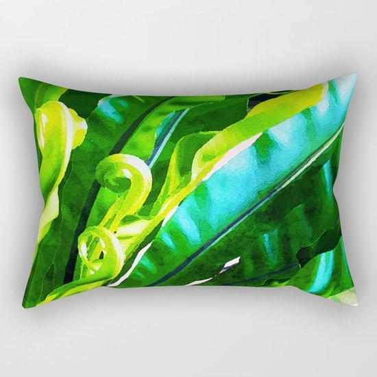 Shy Fern #society6 #decor #buyart Rectangular Pillow