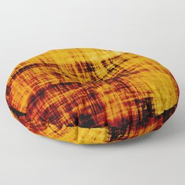 Orange and Brown Textured Abstract Floor Pillow
