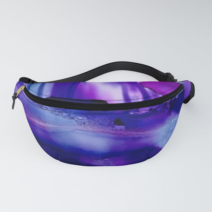 Shades of Purple Abstract Fanny Pack