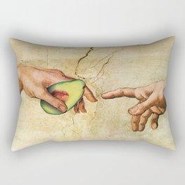 Leonardo Da Vinci Hands with  Avocado Rectangular Pillow