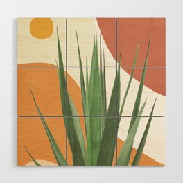 Abstract Agave Plant Wood Wall Art