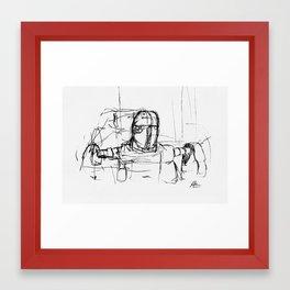 Warbot Sketch #033 Framed Art Print