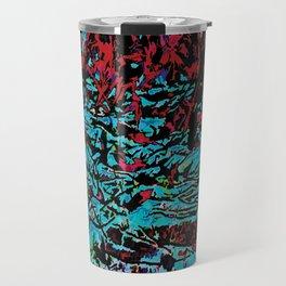Flora Celeste Tourquoise Leaves Travel Mug