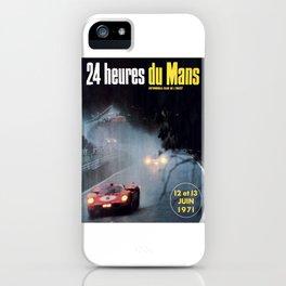 Le Mans, 24hs Le Mans 1971, vintage poster, Le mans t-shirt iPhone Case