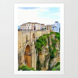 New Bridge, Ronda, Spain Art Print