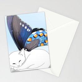 White Kitten Fairy Stationery Cards