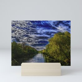 Branch River at Forestdale, Rhode Island Landscape Painting by Jeanpaul Ferro Mini Art Print