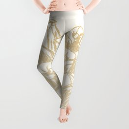 Golden Pine Cone Leggings