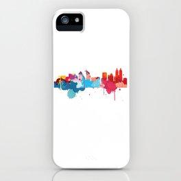 Jakarta Cityscape Watercolor iPhone Case
