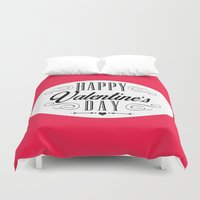 valentines Duvet Covers featuring Valentines Day  by Ashley Hillman
