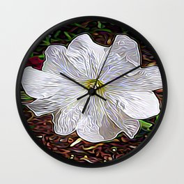 Enchanted Flower Wall Clock