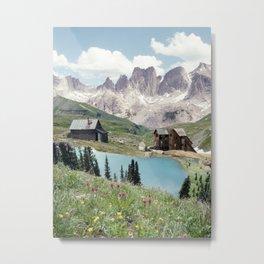 Alpine Nature collage Metal Print
