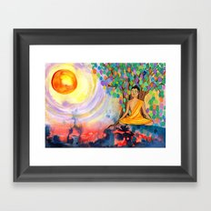 Little Buddha Framed Art Print