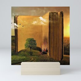 Surrealism Dream world with Book and Chair Mini Art Print