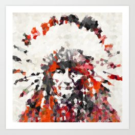 Modern Red Indian Chief - Sharon Cummings Art Print