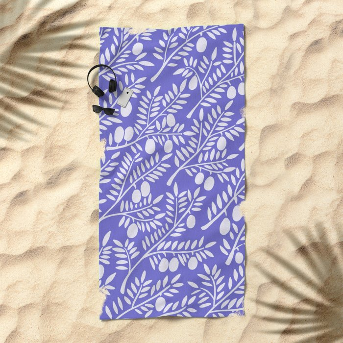 Olive Branches – Periwinkle Beach Towel